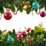 Frontière de décoration de Noël illustration stock