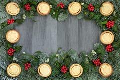 Frontière de fête de fond de Noël Images libres de droits