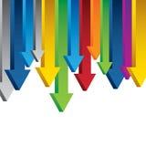 frontière de flèches du diagramme 3D d'isolement sur le backgroun blanc Photographie stock libre de droits