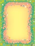 Frontière de fleur de remous Image libre de droits