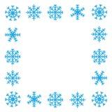 Frontière de flocon de neige Photos libres de droits