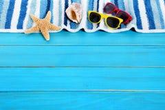 Frontière de fond de plage d'été Photographie stock