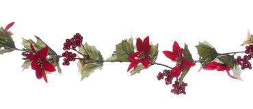 Frontière de guirlande de Noël Image libre de droits