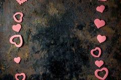 Frontière de jour du ` s de Valentine des coeurs Images stock