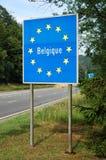 Frontière de la Belgique Photographie stock