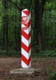 Frontière de la Pologne Images libres de droits