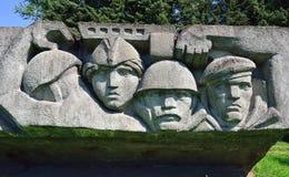 Frontière de Lembolovo, monument à la victoire. St Petersburg, Image stock