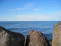 Frontière de mer sur le château Image libre de droits