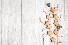Frontière de Noël avec des biscuits photos libres de droits