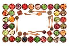 Frontière de nourriture de régime de Paleo Photographie stock libre de droits