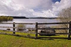 Frontière de sécurité à l'eau de Kielder Photo stock