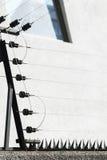 Frontière de sécurité électrique photos stock
