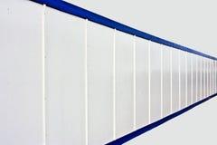 Frontière de sécurité blanche Photos stock