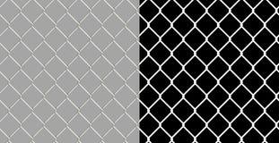 Frontière de sécurité brillante de maillon de chaîne de fil Photographie stock libre de droits