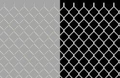Frontière de sécurité brillante de maillon de chaîne de fil Photo stock