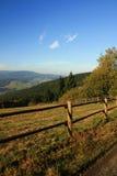 Frontière de sécurité dans les montagnes Images stock
