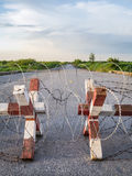 Frontière de sécurité 3 de barbelé Photos stock