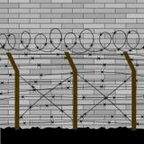 Frontière de sécurité 3 de barbelé illustration libre de droits