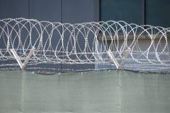 Frontière de sécurité 3 de barbelé Image stock