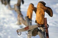 Frontière de sécurité de cowboy photographie stock libre de droits