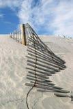 Frontière de sécurité de dune photo stock