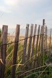 Frontière de sécurité de dunes de plage Photographie stock libre de droits