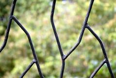 Frontière de sécurité de fer travaillé   images libres de droits