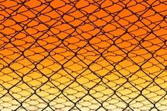 Frontière de sécurité de fil photo stock