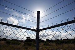 Frontière de sécurité de fil Images libres de droits