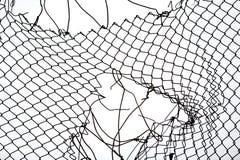 Frontière de sécurité de fil cassée de fer Image libre de droits