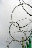 Frontière de sécurité de fil de rasoir Image libre de droits