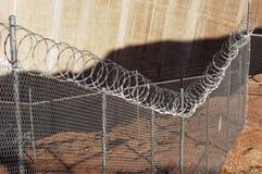 Frontière de sécurité de fil de rasoir. image libre de droits
