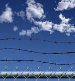 Frontière de sécurité de garantie de maillon de chaîne Photographie stock libre de droits