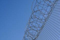 Frontière de sécurité de garantie de prison Photographie stock