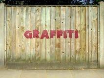 Frontière de sécurité de graffiti Photos libres de droits