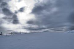 Frontière de sécurité de l'hiver Photographie stock