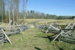 Frontière de sécurité de longeron fendu, Richmond, la Virginie Photo libre de droits