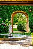 Frontière de sécurité de luxe de jardin Photo libre de droits