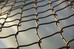 Frontière de sécurité de maillon de chaîne Images stock