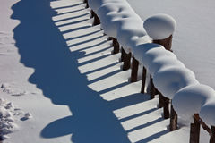 Frontière de sécurité de neige Photo libre de droits