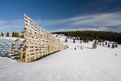 Frontière de sécurité de neige Photos stock