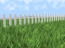 frontière de sécurité de piquet 3d blanche illustration libre de droits