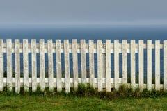 Frontière de sécurité de piquet blanche Images libres de droits