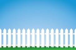 Frontière de sécurité de piquet blanche illustration de vecteur