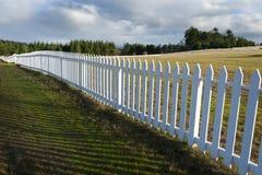 Frontière de sécurité de piquet blanche Image libre de droits