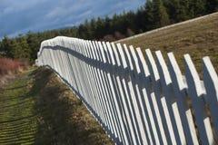 Frontière de sécurité de piquet blanche Image stock