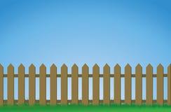 Frontière de sécurité de piquet de Brown illustration de vecteur