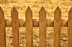 Frontière de sécurité de piquet de sépia Image libre de droits