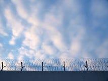 Frontière de sécurité de prison Photos stock