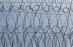 Frontière de sécurité de prison photo stock